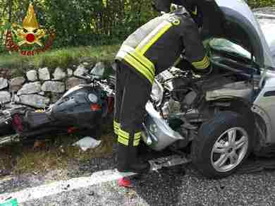 Incidente stradale ad Arcola di Barcis